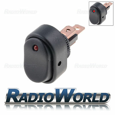 12v 30a ON/OFF Red Illuminated Black Oval Rocker Switch /Car dash / light /Boat