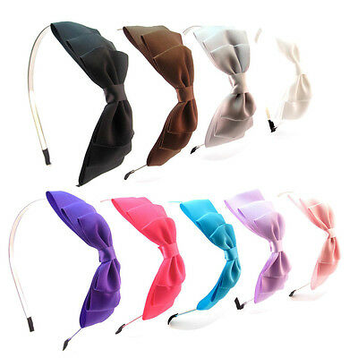 CLEARANCE Large Triple Layered Bow Metal Hair Alice Band Headbands Hairbands