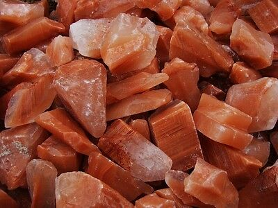 1000 Carat Lots of Unsearched Natural Red Calcite Rough + FREE faceted gemstone