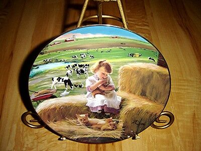 COUNTRY COMPANIONS A Special Bond Little Farmhands Donald Zolan Cow Kitten Plate