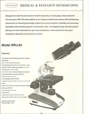 Microscopes Science Research Laboratory Professional Use Powerful Magnification