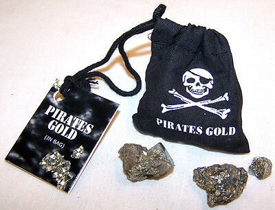 BAG OF PIRATES GOLD NUGGETS pirate iron pyrite treasure  party favors new supply