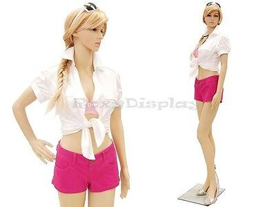 Plastic Durable Manequin Female Mannequin Display Dress Form G1+FREE WIG