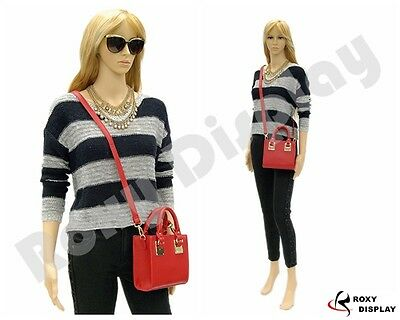 Plastic Durable Female Manikin Mannequin Display Dress Form G2 +FREE WIG