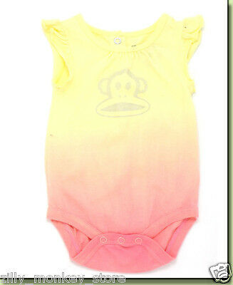 Small Paul by Paul Frank Infant /& Toddler Girls 1-Piece Magenta Romper MSRP $38