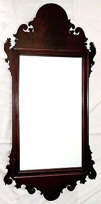 "c1800 Chippendale mirror, flame mahogany, well molded frame, 42"" t,"