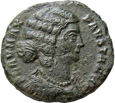 Fausta wife of Constantine I the Great 325AD Rare Ancient Roman Coin Rare AE18