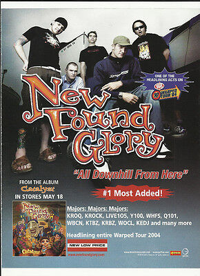 NEW FOUND GLORY & ERIC CLAPTON All Down from TRADE AD POSTER of Catalyst CD MINT