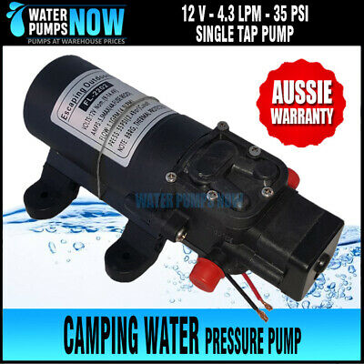 12 V Heavy Duty Pressure Pump for bucket shower/ hand wash camping 35PSI 4.3 lpm