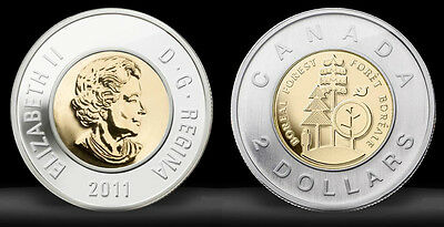 2011 Toonie Canada Parks Boreal Forest $2.00 Commemorative