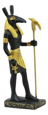 "Egyptian Egypt Set Statue Seth God Of Chaos Small Miniature 3"" Figurine"