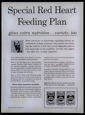 1959 Red Heart Canned Dog Food Magazine Ad