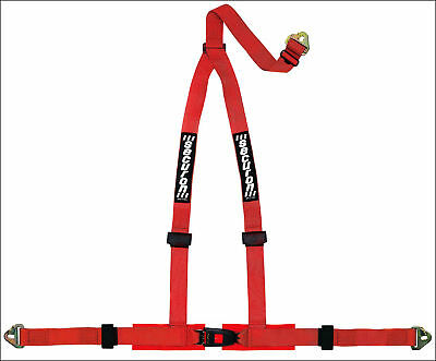 NEW Securon 605/Red 3Point Racing Rally Race Harness with Snap Hooks