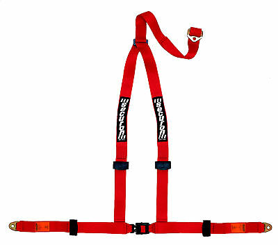 NEW Securon 628/Red 3 Point Racing Rally Race Harness with Anchor Plates
