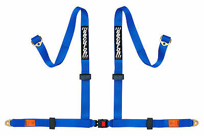 NEW Securon 629/Blue 4 Point Racing Rally Race Harness with Anchor Plates