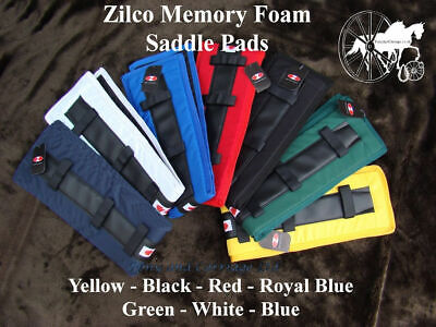 Zilco Carriage Driving Memory Foam Harness Saddle Pads Liners 7 Colours **NEW**
