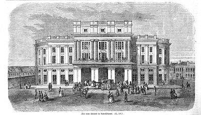 USA - NEW ORLEANS - NEUES THEATER - 1860