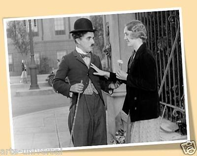 Charlie Chaplin Charles City Lights Matte Print Poster Movies Oldies Photograph