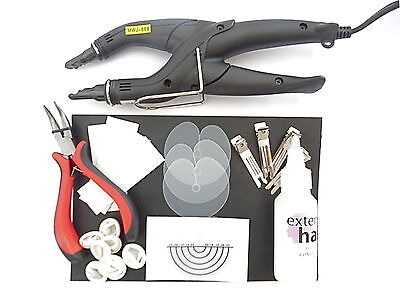FUSION HEAT CONNECTOR IRON KIT PRE-BONDED HAIR EXTENSIONS with instructions