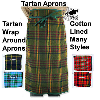 Tartan Carriage Driving Apron Cotton Lined Wrap Around 8 Styles
