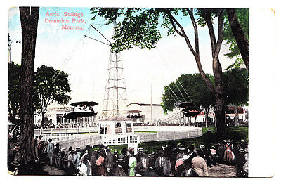 A View of the Aerial Swings, Dominion Park, Montreal Canada