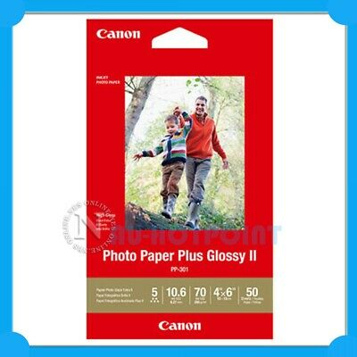 "Canon 100x Pack PP-201 4x6"" Photo Paper Plus Glossy II for MX870 MX885 MG8250"