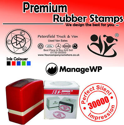 Personalised Self Ink Rubber Stamp Business,address,logo, Free Art Work