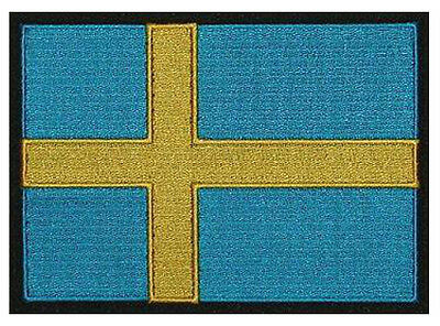 "Country Flag Patch 5/""x 4/"" Sweden Swedish approx embroidered 13 x 10CM"