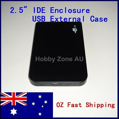 USB 2.0 Slim 2.5 IDE Hard HDD Drive Disk External Enclosure Case Toolless Caddy