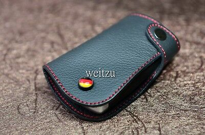 Leather key case BMW 320i 316i 316D 320D 328i 335i F30,F31 Black with Red Line