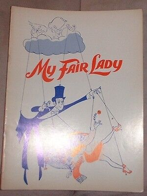 Road Tour Souvenir Program - My Fair Lady - white cover