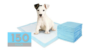 150 LARGE PUPPY TRAINER TRAINING PADS TOILET WEE 60 x 40