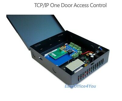 Single door Two RFID Readers TCP/IP Access Control and Power Supply Box