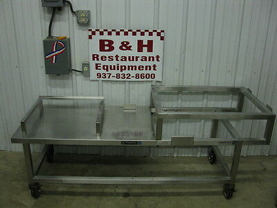 """71"""" Stainless Steel Heavy Duty Equipment Griddle Stand Table 6'"""