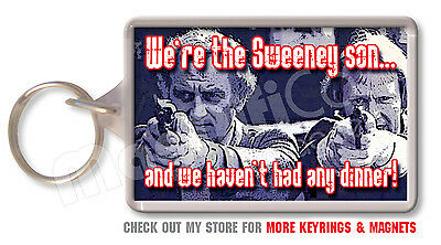 The Sweeney - Novelty Keyring - John Thaw / Dennis Waterman - Police