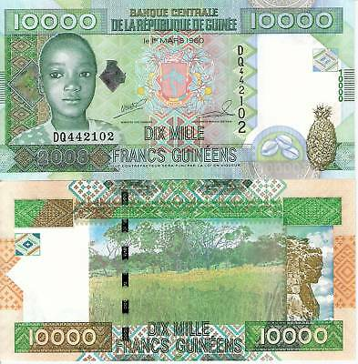 GUINEA 10000 Francs Banknote World Currency Money BILL Africa Note pick 42 5008