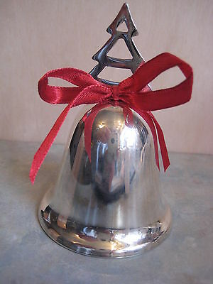 Silver Plated Christmas Tree Bell