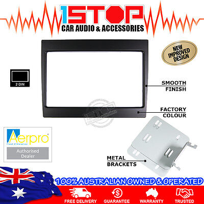 HOLDEN COMMODORE VY-VZ 02-07 BLACK DOUBLE-DIN FACIA KIT dash fascia panel 2DIN