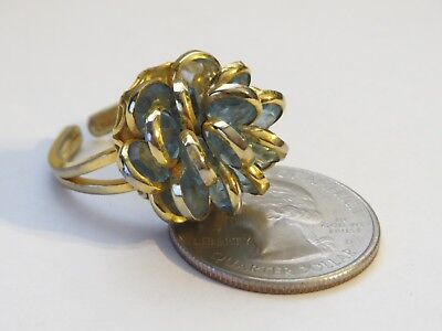Authentic Original BLUE BOUQUET AUSTRIAN CRYSTAL Ring Size 6