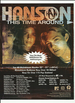 HANSON this time Around TRADE AD POSTER for This time Around CD 2000 MINT