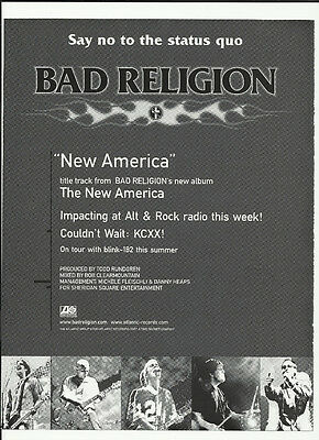 BAD RELIGION New American TRADE AD POSTER for New American CD 2000 blink 182