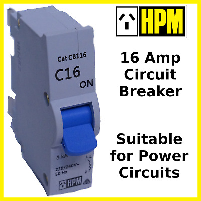 Circuit Breaker 16 Amp HPM Power