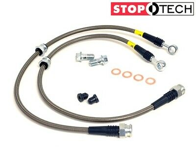 STOPTECH STAINLESS STEEL BRAIDED FRONT+REAR BRAKE LINES FOR 04-14 NISSAN MURANO