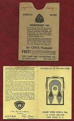 NOT SCOUT VINTAGE CAMPFIRE GIRL 1936 CAMP FIRE GIRLS HEALTH CHART 11 x 14
