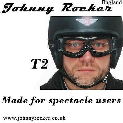 Davida Johnny Rockers Jeantet Aviator T2 Goggles for spectacle wearers