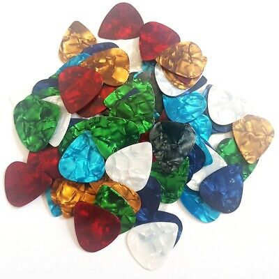 24pcs Custom Acoustic Electric Guitar Celluloid Picks Plectrums 0.71mm New
