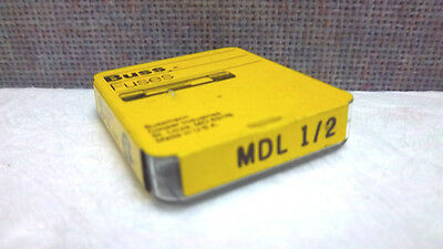 Box Of 5 Cooper Bussmann Buss Fuses Mdl-1/2 New Mdl1/2 Mdl12