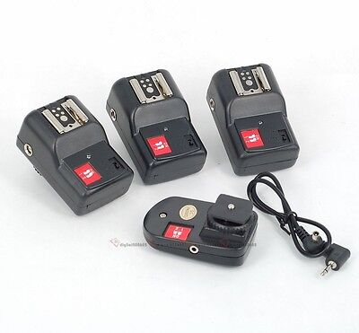 NEW PT-04 GY 4 Channels Wireless/Radio Flash Trigger SET with 3 Receivers