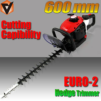 New 600mm Precision Blade PETROL Hedge Trimmer Clipper
