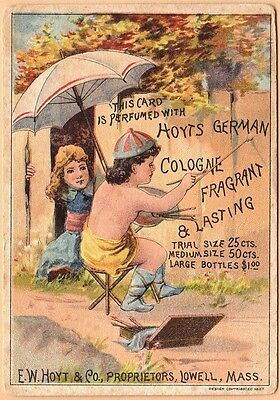 Victorian Trade Card-Hoyt's German Cologne-Lowell, MA-Wilmington, OH